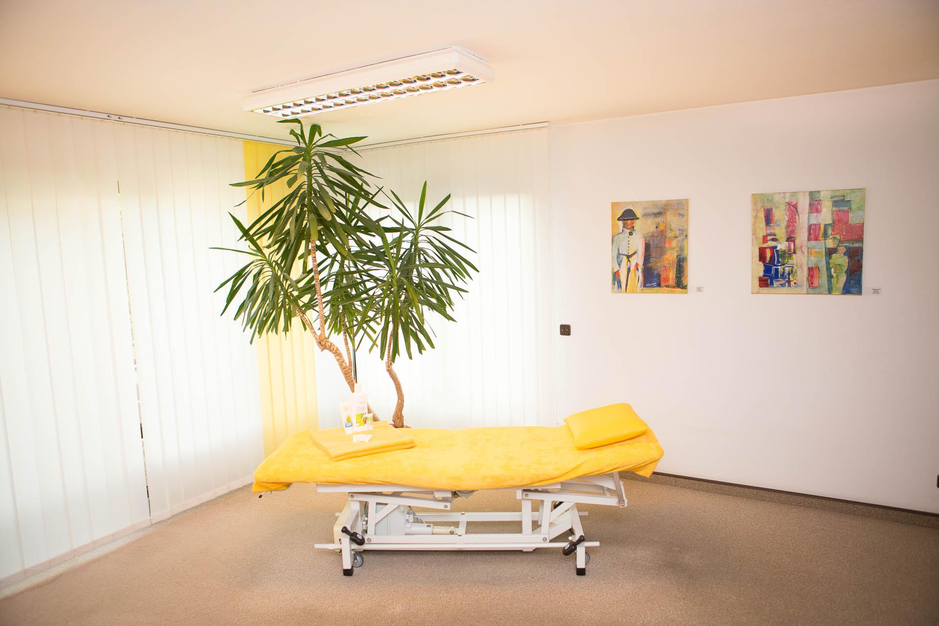 Behandlugsraum Pysiotherapie Wuppertal
